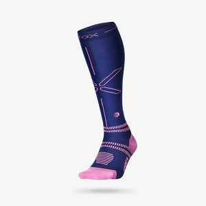 Sports Socks Women - Dark Blue / Pink