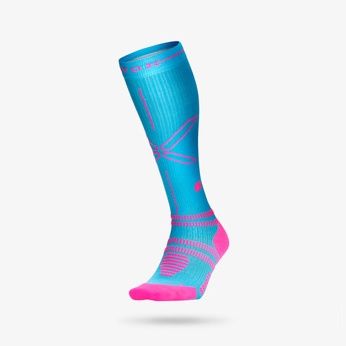 Sports Socks Women - Turquoise / Fuchsia