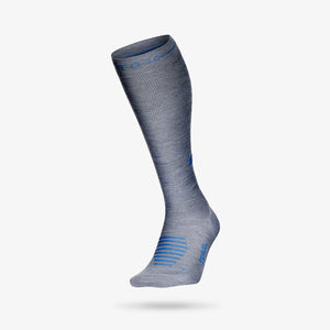 Travel Socks Women - MidGrey / Avio Blu