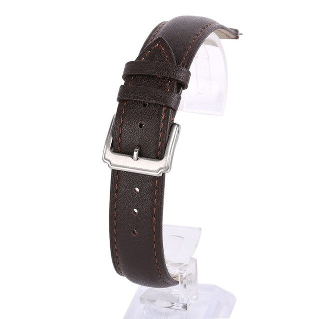 Men Cow Leather Watch Band Strap