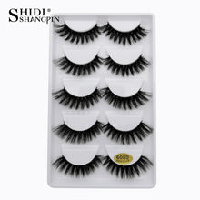 Load image into Gallery viewer, 5 Pairs 100% cruelty-free sexy mink eyelashes