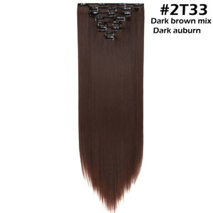 8Pcs/set Long Straight Clip in Hair Extensions