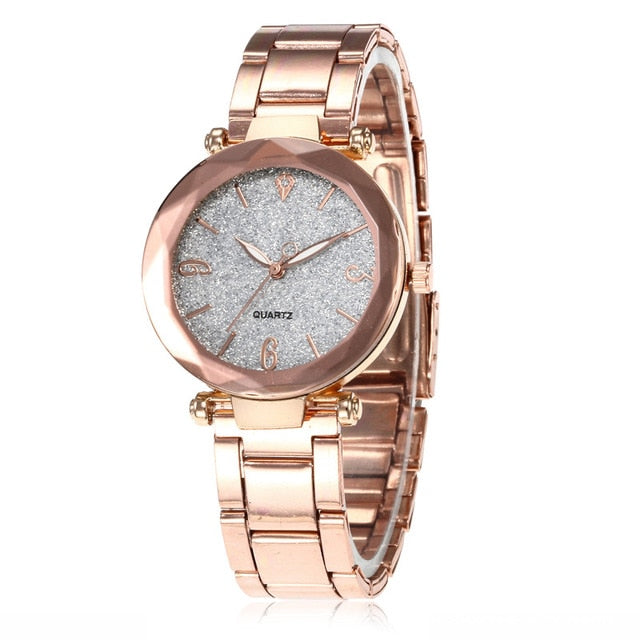 Women Luxury Rose Gold Bracelet Watch