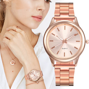 Women Rose Luxury  Gold Bracelet Watch