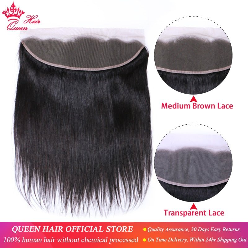 Brazilian Virgin Straight Transparent Lace Frontal Closure