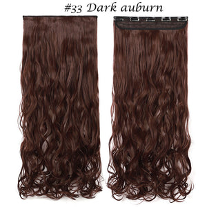 Long wavy Clip in One Piece Hair Extension
