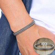 Load image into Gallery viewer, Men Vintage Cool Double Curb Chain Bracelets