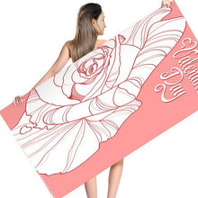Load image into Gallery viewer, Soft Pattern Polyester Valentine's Day Beach Towel