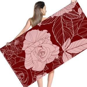 Soft Pattern Polyester Valentine's Day Beach Towel