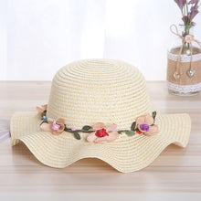 Load image into Gallery viewer, Handmade Womens Straw Wreath Sun Hat