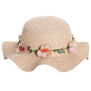 Handmade Womens Straw Wreath Sun Hat