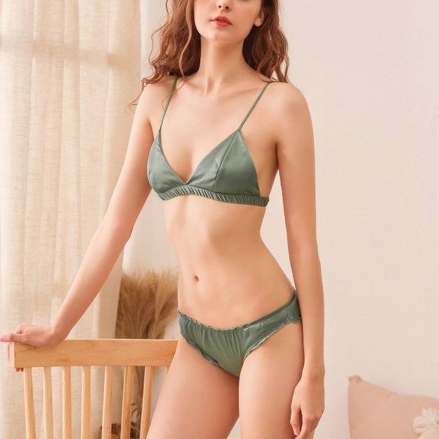Sexy Seamless Smooth Satin Bikini