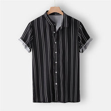 Load image into Gallery viewer, Men's Color Stripe Summer Short Sleeve Shirt