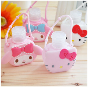 Hello kitty hand sanitizer body wash bottle lotion bottle travel