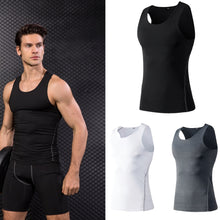 Load image into Gallery viewer, Men Fitness Tights Tank Top