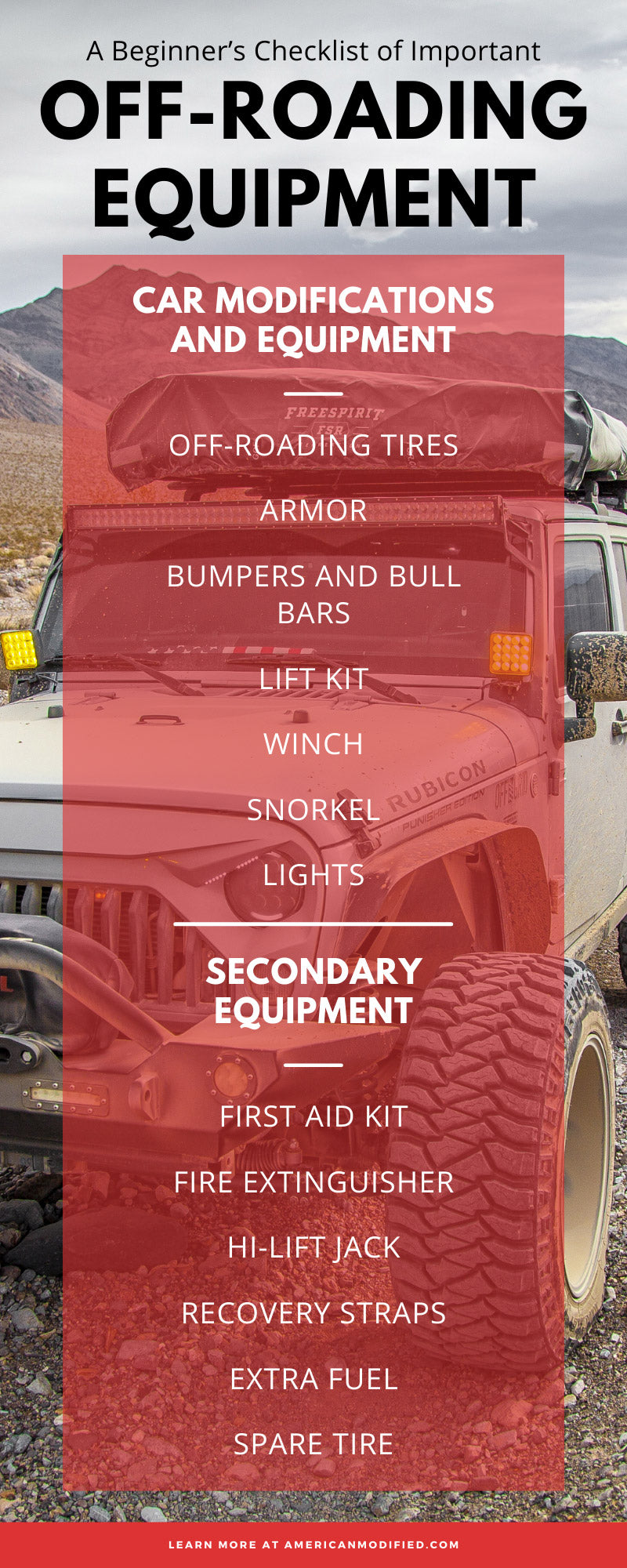 A Beginner's Checklist of Important Off-Roading Equipment