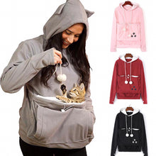 Load image into Gallery viewer, Kangaroo Cat Hoodie