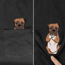 Load image into Gallery viewer, Funny Pets Pocket T-Shirt (14 Designs)