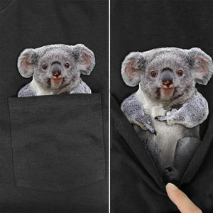 Funny Pets Pocket T-Shirt (14 Designs)