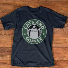 Load image into Gallery viewer, Cats And Coffee T-Shirt