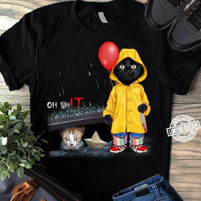 Funny Black Cat T-Shirt