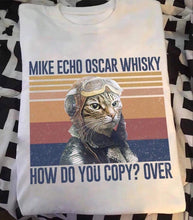 "Load image into Gallery viewer, ""Cat Mike Echo"" T-Shirt"
