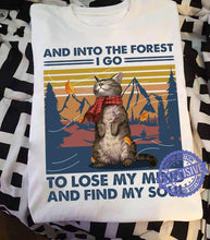 "Load image into Gallery viewer, ""Into The Forest"" Cat T-Shirt"