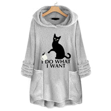 Load image into Gallery viewer, Fluffy Fleece Cat Hoodie