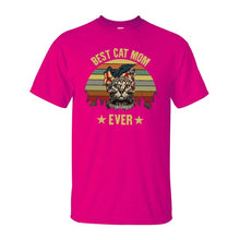 "Load image into Gallery viewer, ""Best Cat Mom Ever"" Tee Shirt"