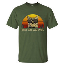 "Load image into Gallery viewer, ""Best Cat Dad Ever"" T-Shirt"
