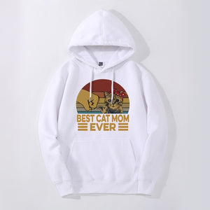"""Best Cat Mom Ever"" Hoodie"