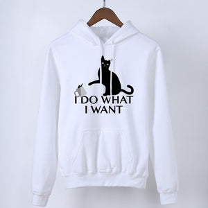 """I Do What I Want"" Cat Hoodie"