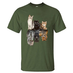 Cute Cat Reflection T-Shirt