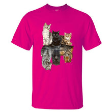 Load image into Gallery viewer, Cute Cat Reflection T-Shirt