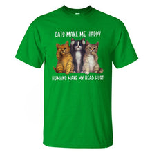 Load image into Gallery viewer, Cats Make Me Happy T-Shirt