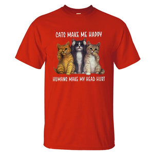 Cats Make Me Happy T-Shirt