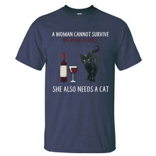 "Load image into Gallery viewer, ""She Also Needs A Cat"" T-Shirt"