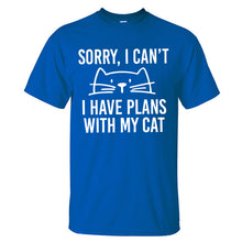 "Load image into Gallery viewer, ""I Have Plans With My Cat"" T-Shirt"