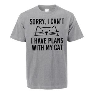 """I Have Plans With My Cat"" T-Shirt"