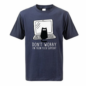 """I´m From Tech Support"" Cat T-Shirt"