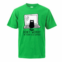 "Load image into Gallery viewer, ""I´m From Tech Support"" Cat T-Shirt"
