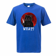 "Load image into Gallery viewer, ""What?"" Funny Cat T-Shirt"