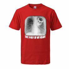 "Load image into Gallery viewer, ""The X-Ray Of My Heart"" Cat T-Shirt"