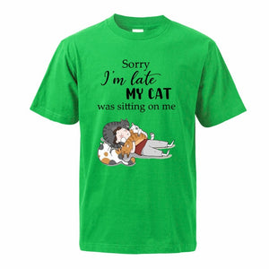 """My Cat Was Sitting On Me"" T-Shirt"