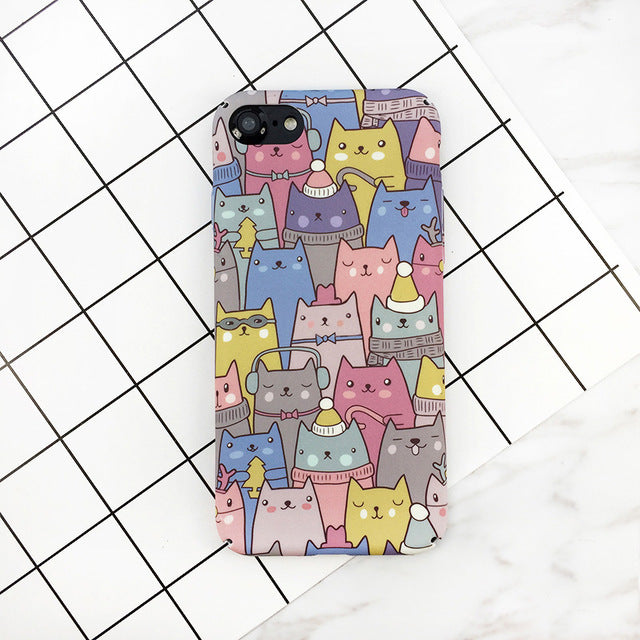 Cute Cartoon Cat iPhone Case