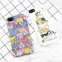Load image into Gallery viewer, Cute Cartoon Cat iPhone Case