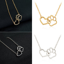 Load image into Gallery viewer, Heart Paw Necklace