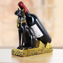 Load image into Gallery viewer, Resin Egyptian Cat Wine Rack