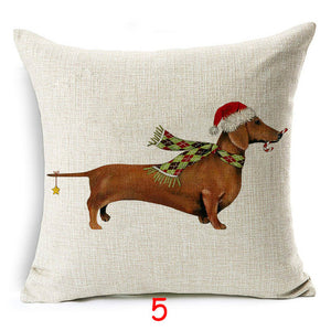 Christmas Dog Pillow Case