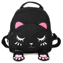 Load image into Gallery viewer, Cute Cat Leather Backpack